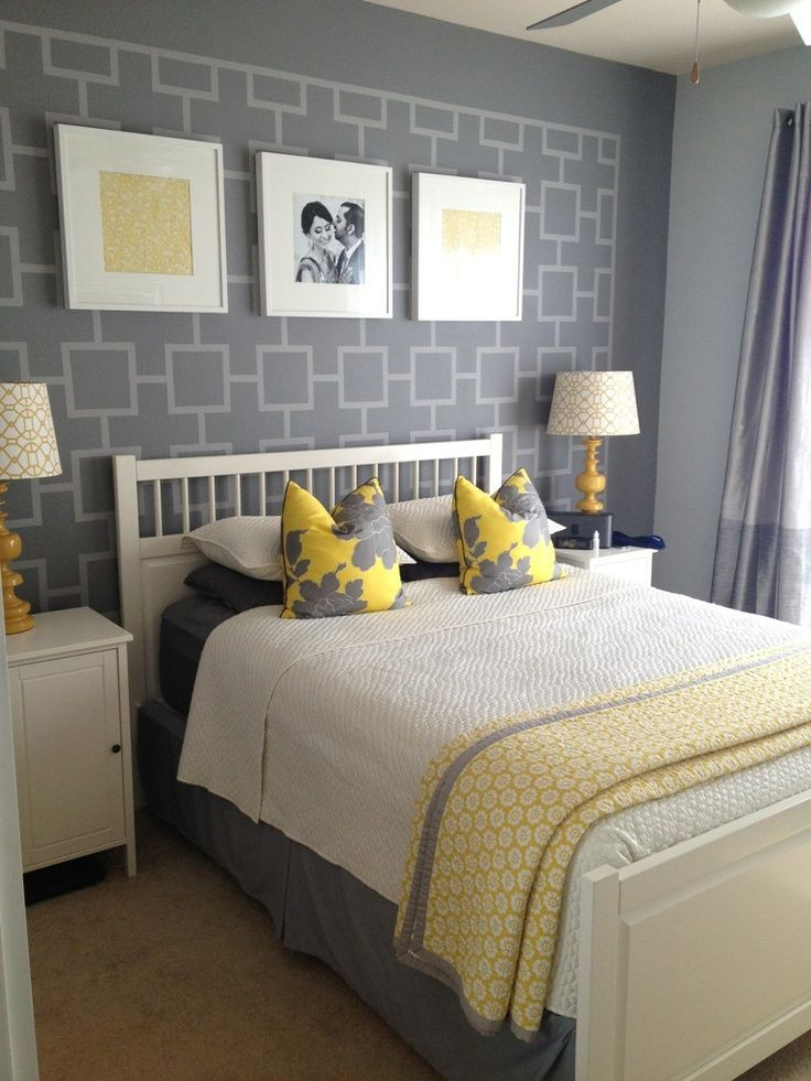Grey and Yellow Bedroom Decor Gray and Yellow Bedroom Ideas