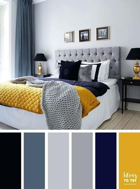 Grey and Yellow Bedroom Decor Navy Blue Yellow and Grey Bedroom Best Color Schemes for