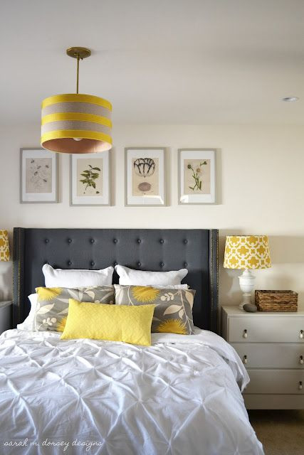 Grey and Yellow Bedroom Decor Yellow Gray Bedroom Love the Colors with A White Wall