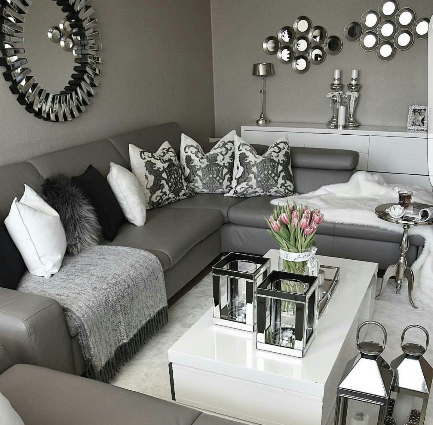 Grey Couch Living Room Decor Enticemedear ♔ ♡ Posh Home In 2019