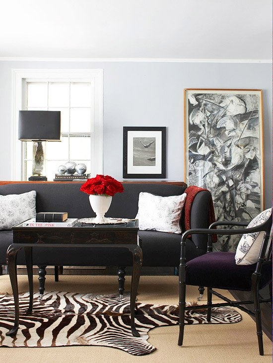 Grey Couch Living Room Decor Gray Living Room Decorating Better Homes and Gardens