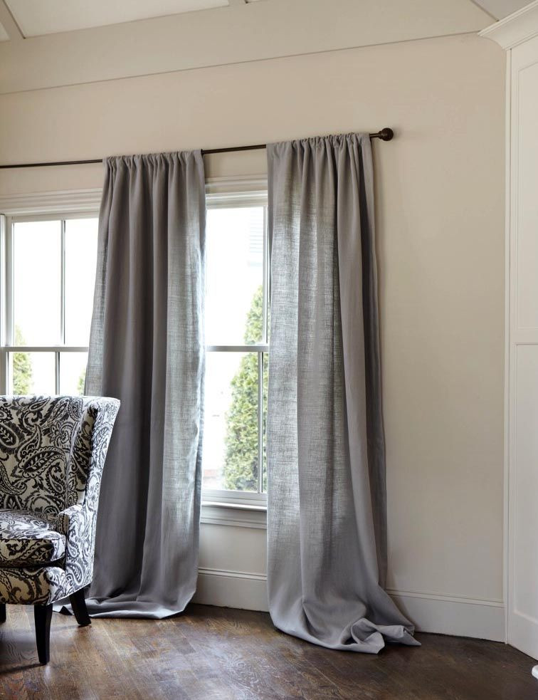 Grey Curtains for Bedroom Gray Linen Curtains