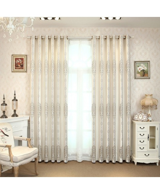 Grey Curtains for Bedroom New Grey Curtains Plain High Precision Jacquard Shading Living Room Bedroom Curtains