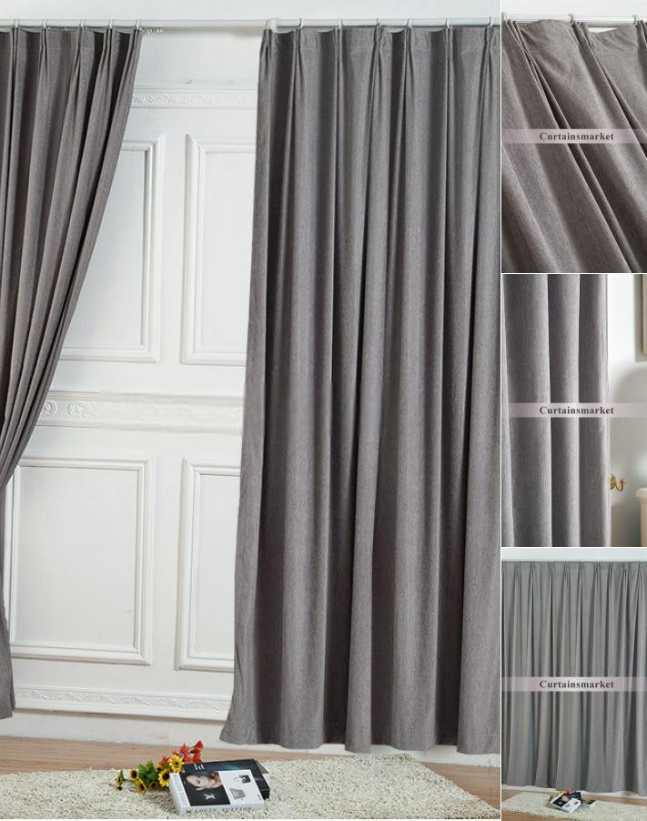 Grey Curtains for Bedroom Two Panels Elegant solid Grey Bedroom Curtains