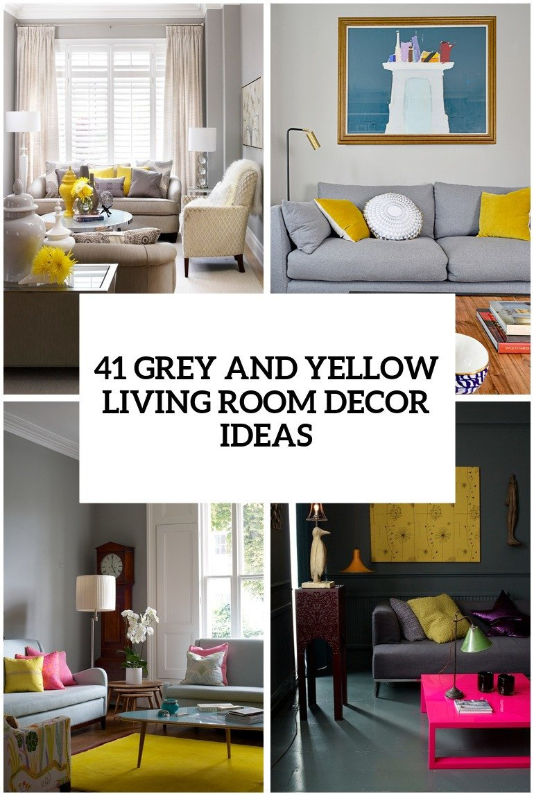 Grey Living Room Decor Ideas 29 Stylish Grey and Yellow Living Room Décor Ideas Digsdigs