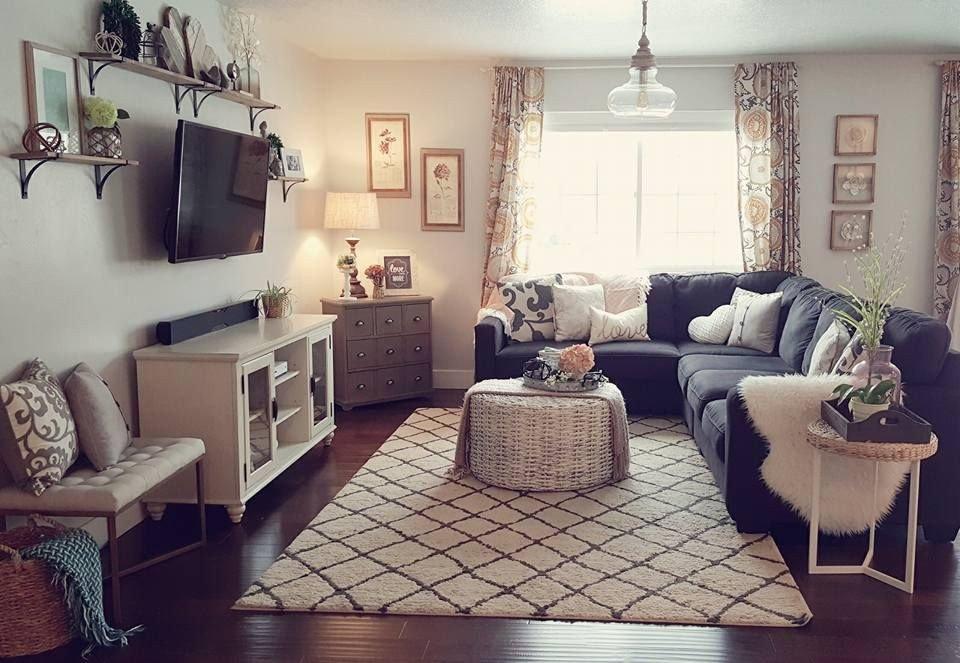 Grey sofa Living Room Decor Dark Gray Couch Light Gray Walls Living Room