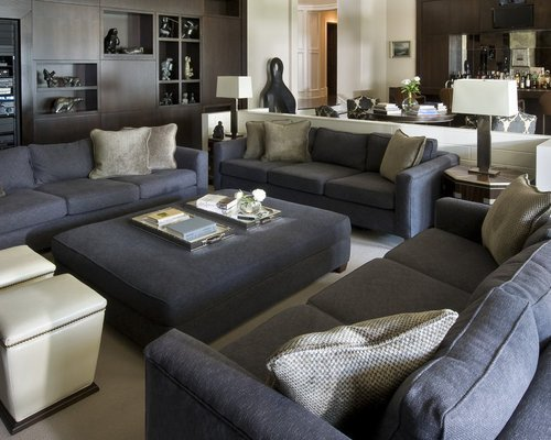 Grey sofa Living Room Decor Dark Gray sofa Home Design Ideas Remodel and Decor