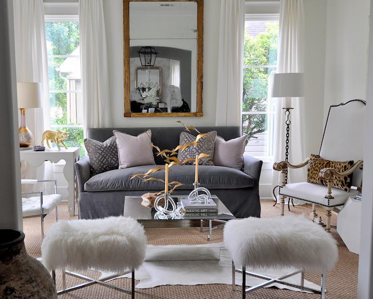 Grey sofa Living Room Decor Gray Velvet sofa Eclectic Living Room Sally Wheat Interiors