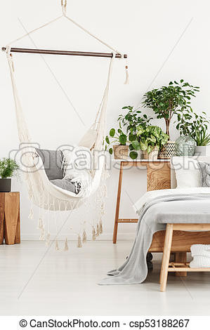 Hammock Bed for Bedroom Beige Hammock In Bright Bedroom