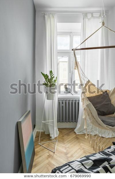 Hammock Bed for Bedroom Gray Bedroom Diy Hammock Bed Window Stock Edit now