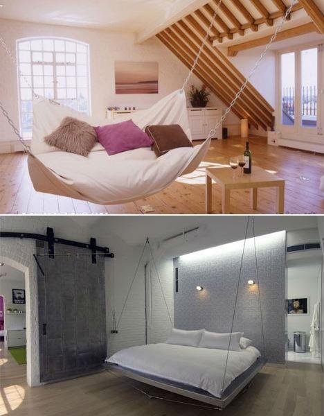 Hammock Bed for Bedroom Tempting Swinging Beds