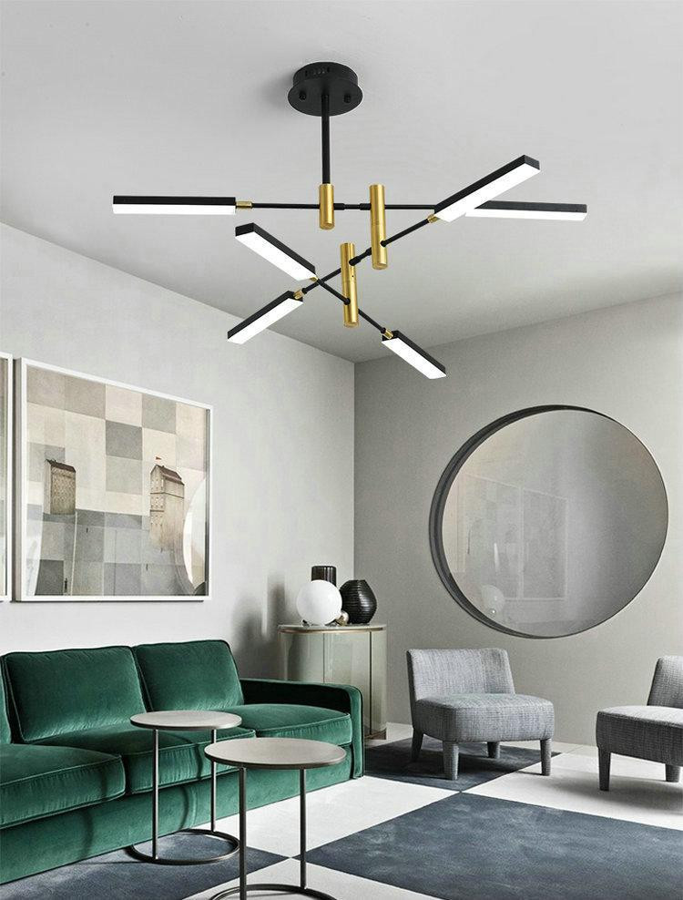 Hanging Light for Bedroom Modern Black Iron Chandelier nordic Pendant Lamp Bedroom Living Room Kitchen Dining Room Led Hanglamp Light Fixtures Modern Hanging Lights