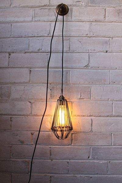 Hanging Light for Bedroom Pendant Light Cord Inline Switch with Wall Plug