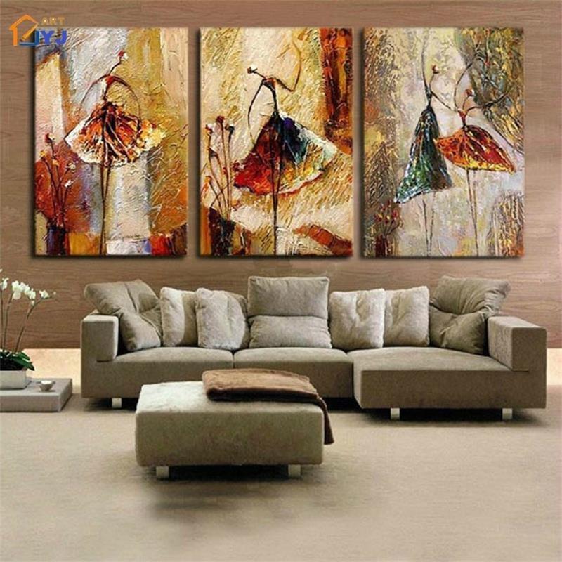 Home Decor Pictures Living Room Jyj Ballet Dancer Wall Art for Living Room Home