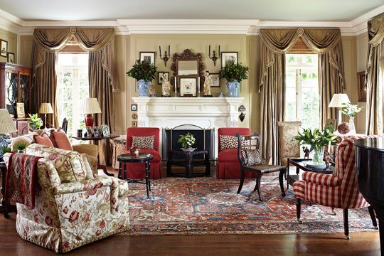 Homey Traditional Living Room Colorful Living Rooms