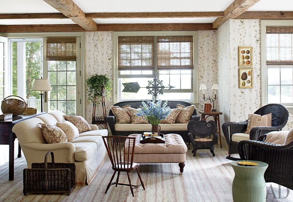 Homey Traditional Living Room Traditional Living Room by Nantucket House Antiques and