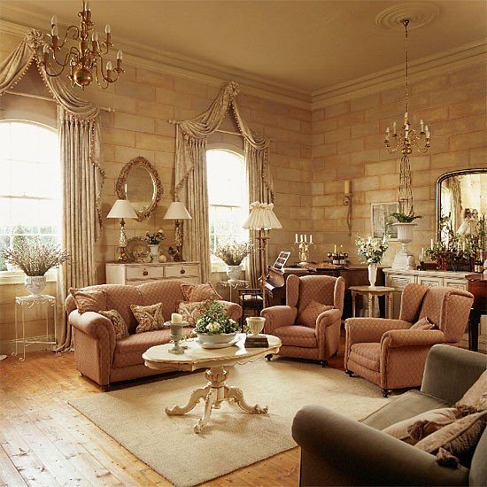 Homey Traditional Living Room Traditional Living Room Decorating Ideas