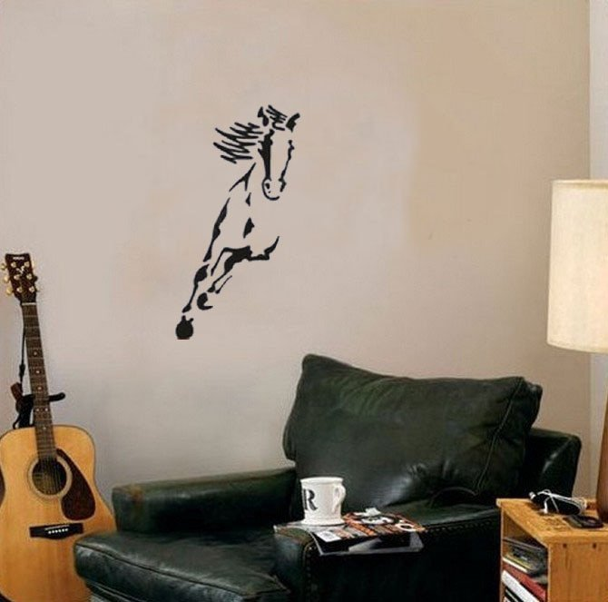 Horse Decor for Living Room Australia Wild Horse Animals Wall Decals Vinyl Stickers