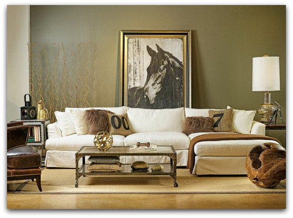 ditto a living room for the modern equestrian