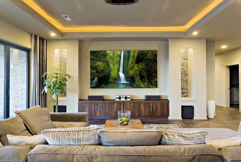 How to Decor Living Room How to Decorate A Living Room with A Projector Screen