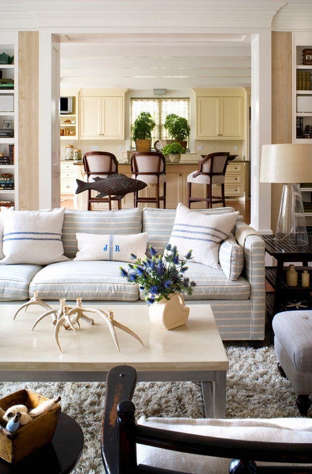 How to Decor Living Room Subtle Striped sofas the Inspired Room