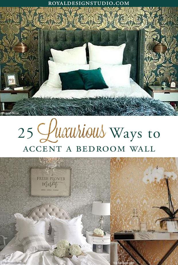 How to Decorate Bedroom Walls 25 Luxurious Bedroom Feature Wall Stencils Diy Painted