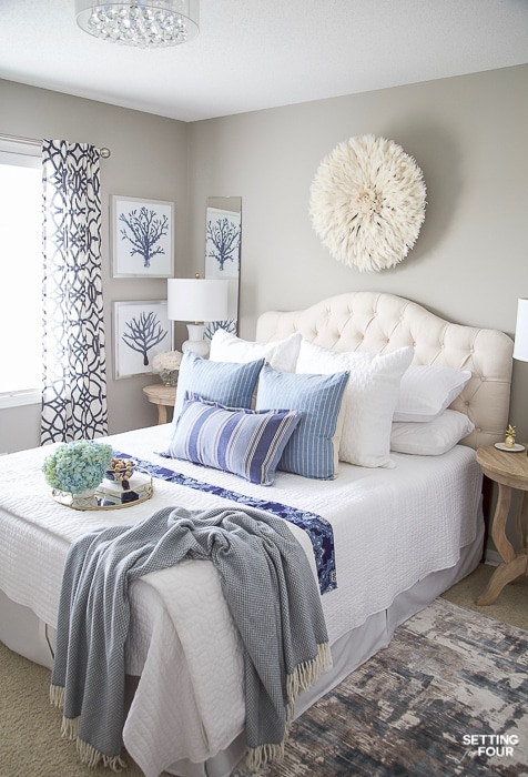 How to Decorate Your Bedroom 7 Simple Summer Bedroom Decorating Ideas Setting for Four
