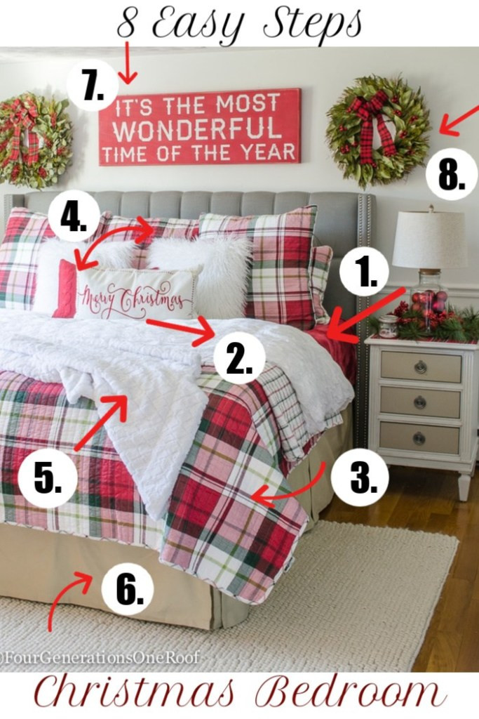 How to Decorate Your Bedroom How to Decorate Your Bedroom for Christmas In 8 Steps Four