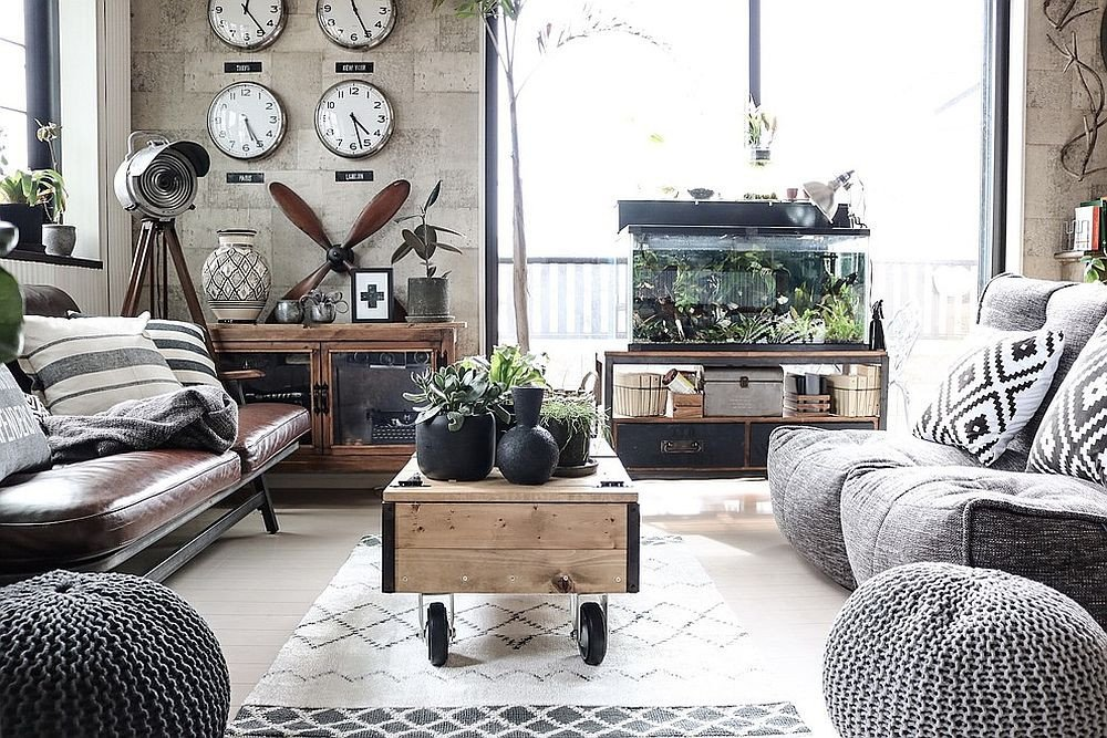 Industrial Contemporary Living Room 20 Monochromatic Living Rooms In White Full Of Personality