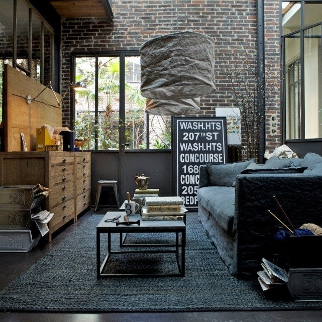 Industrial Contemporary Living Room 30 Stylish and Inspiring Industrial Living Room Designs