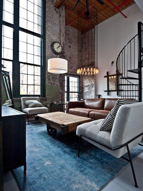 Industrial Contemporary Living Room Best Industrial Living Room Design Ideas & Remodel