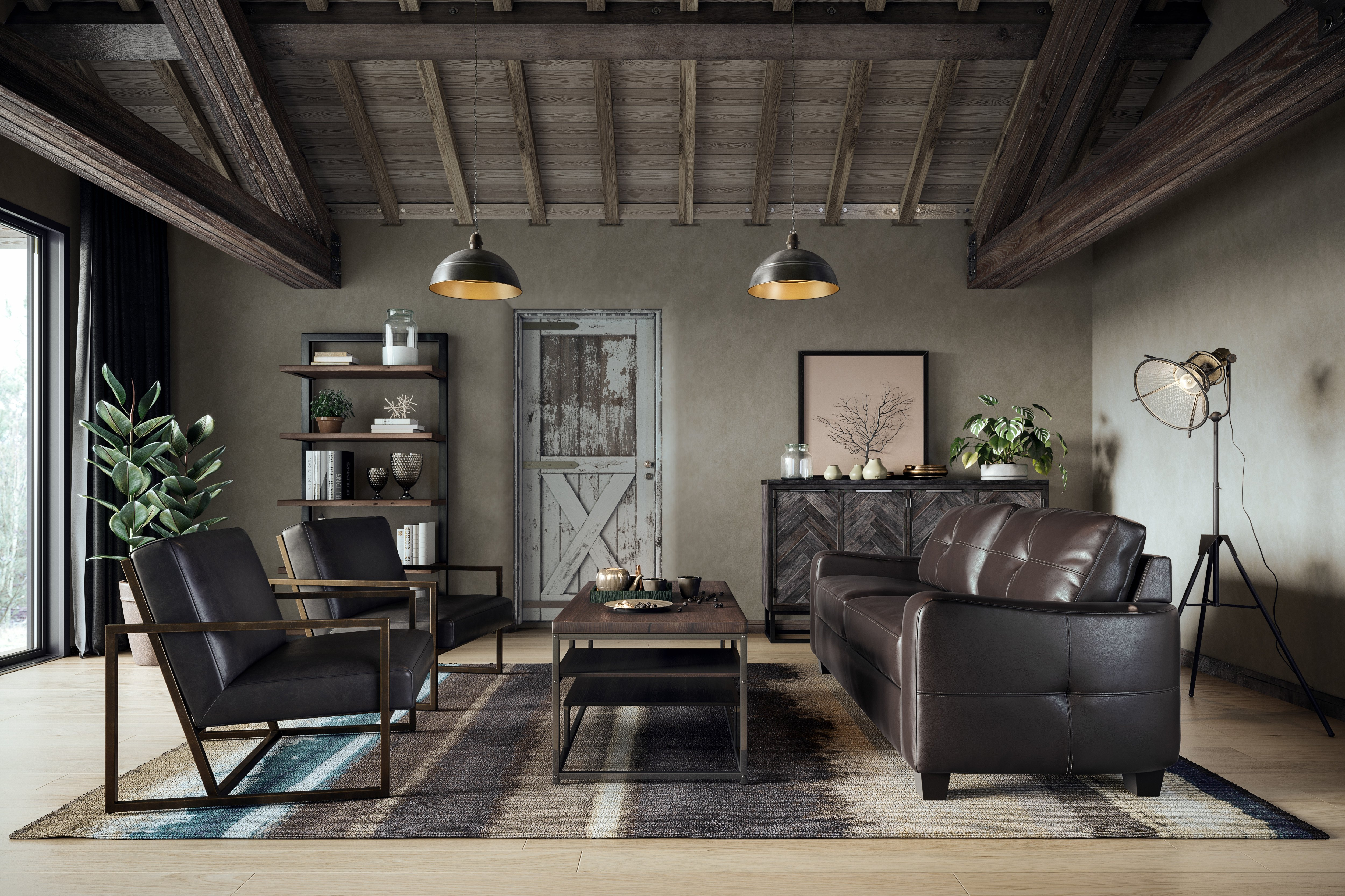 Industrial Contemporary Living Room Elevated Industrial Living Room Casaza