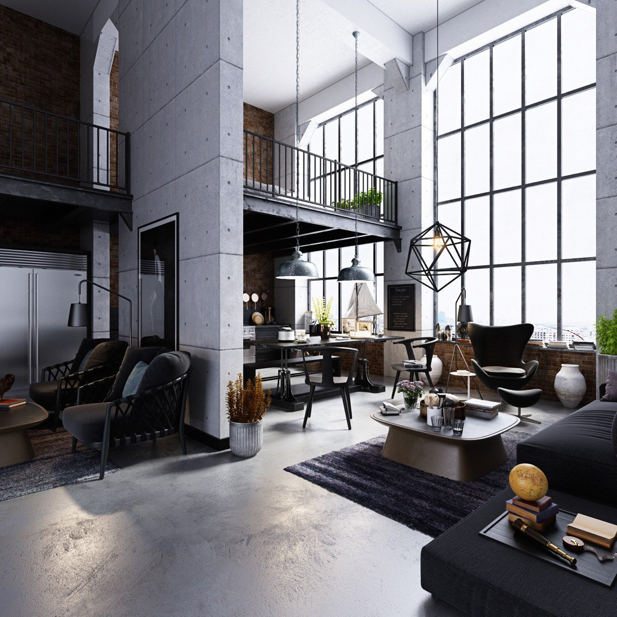 Industrial Contemporary Living Room Home Designing Industrial Style Living Room Design the