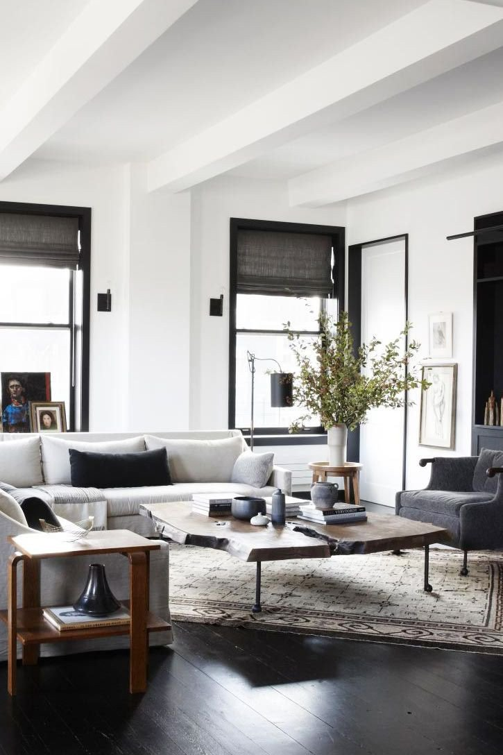Industrial Contemporary Living Room Industrial Verve In An Uptown Loft