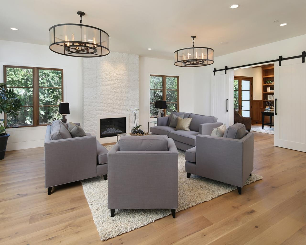 Industrial Contemporary Living Room Page