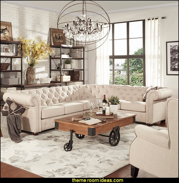 Industrial Modern Living Room Decorating Ideas Decorating theme Bedrooms Maries Manor Industrial