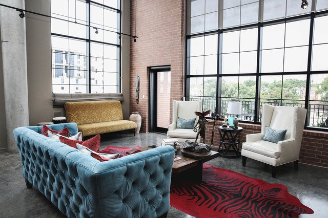 Industrial Modern Living Room Decorating Ideas Modern Urban Loft Designed by Estrada Interior Design