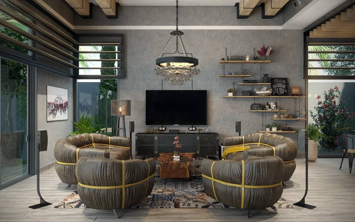 Industrial Modern Living Room Decorating Ideas Rustic Industrial Living Room Ideas to Inspire