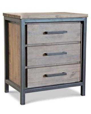 Industrial Style Bedroom Furniture Apt2b Lofton Nightstand Acacia Iron solid Wood W Metal Frame Industrial Style Bedroom Furniture sold by Apt2b From Apt2b Furniture and Home