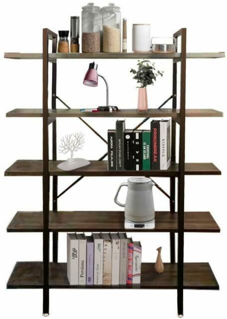 Industrial Style Bedroom Furniture Morinn Rustic Wood and Metal Multi Functional Bookshelf Furniture Bedroom Living