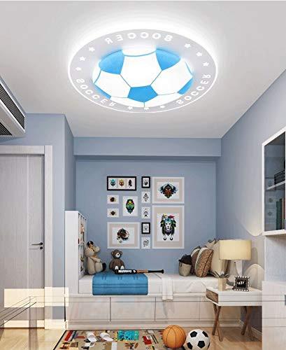 "Kids Bedroom Ceiling Light Litfad soccer Patterned Dimmable Led Ceiling Light 20 5"" Creative Ceiling Fixture In Blue for Kid S Bedroom Living Room Children S Room Kids"