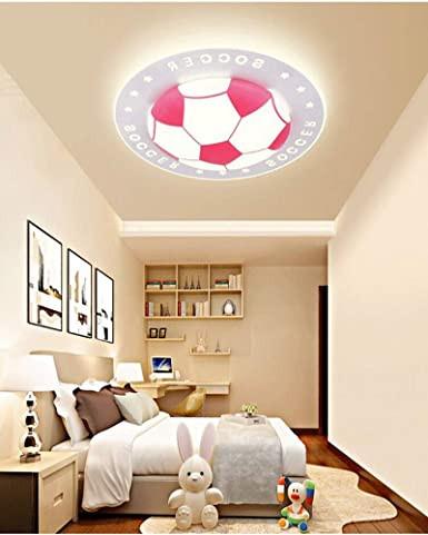 "Kids Bedroom Ceiling Light Litfad soccer Patterned Dimmable Led Ceiling Light 20 5"" Creative Ceiling Fixture In Pink for Kid S Bedroom Living Room Children S Room Kids"