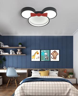 Kids Bedroom Ceiling Light Mickey Minnie Ultralight Creative Ceiling Pendant Light for Kids Bedroom