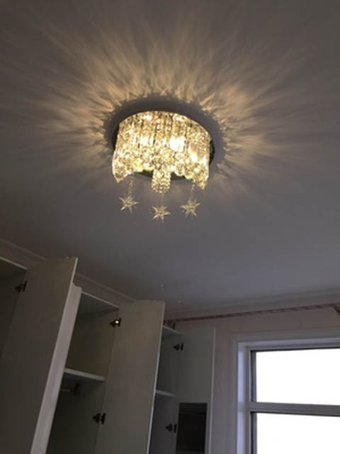 Kids Bedroom Ceiling Light Surface Crystal Ceiling Lamp Luxury Crystal Ceiling Lights Kids Room Light Ceiling Crystal Lamp Bedroom Ceiling Light Moon Star