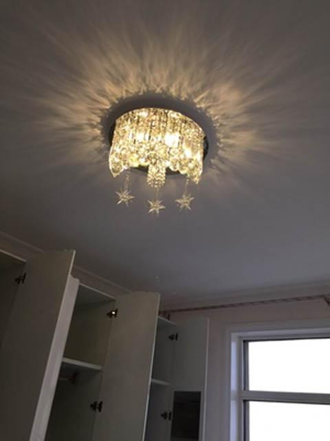 Kids Bedroom Ceiling Light Surface Crystal Ceiling Lamp Luxury Crystal Ceiling Lights Kids Room Light Ceiling Crystal Lamp Bedroom Ceiling Light Moon Star