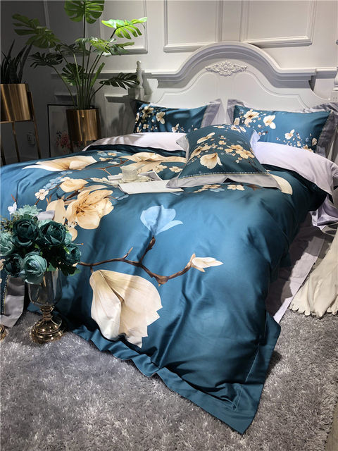 King and Queen Bedroom Decor Holiday Sale 3d Tencel Floral Pattern Duvet Set 4pcs King Queen Bedding Fp 3d00 From Belladonna Home Decor