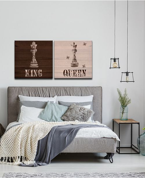 King and Queen Bedroom Decor King & Queen 2 Pc Canvas Wall Decor Set