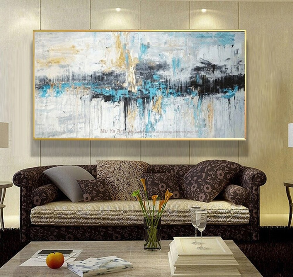 Large Living Room Wall Decor Abstract Art Painting Modern Wall Art Canvas Pictures