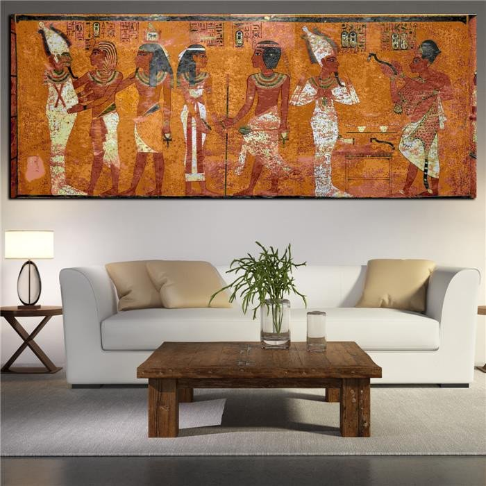 Large Living Room Wall Decor Egyptian Decor Canvas Painting Oil Painting Wall