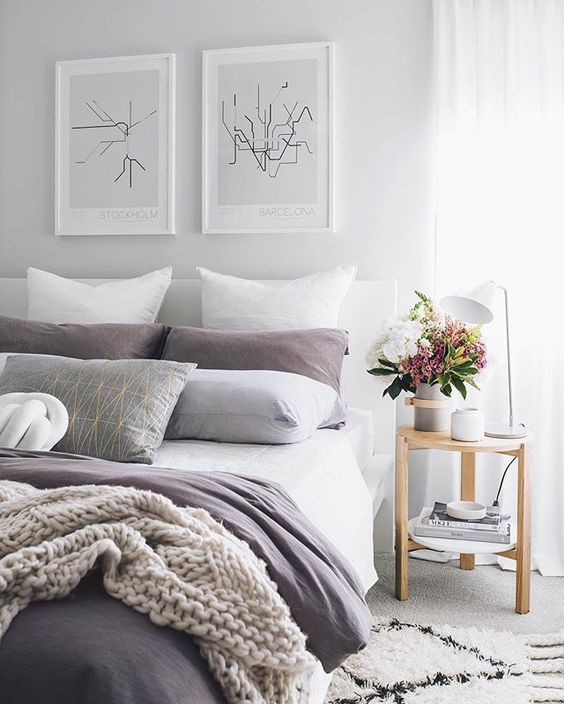 Lavender and Gray Bedroom Color Trends